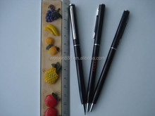 excellent metal ballpoint pen with thin barrel for business person