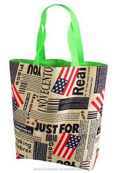 New popular design transparent shopping bag in cheap plastic and transparent shopping bag