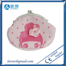 Fashion wholesale flowers printing ladies hand wallet/purse for women