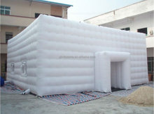 High quality pvc inflatable building giant inflatable cube tent for wedding