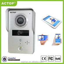 Shenzhen factory support ID card unlocking smart home actop wifi video door phone