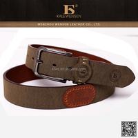 Long serve life high quality unisex genuine leather belt