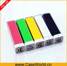 Colorful Lipstick Cheap 2600mAh power bank portable external battery charger for mobile phone,mp3