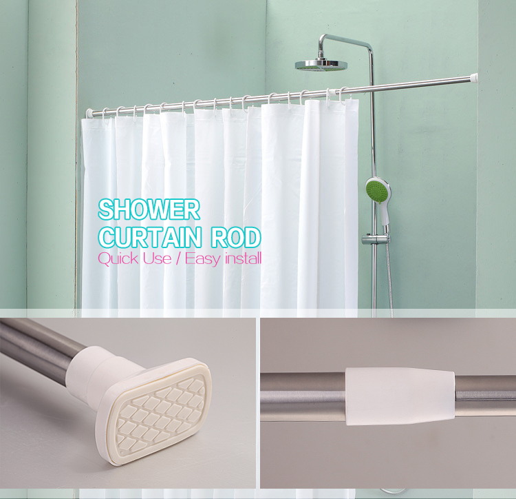 Retractable Bath Curtain Rod,Stainless Steel Curtain Extended Rods ...