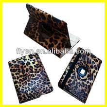 New Leopard Pattern 360 Rotating PU Leather Smart Case Cover Stand For iPad Mini Wholesale Good Price