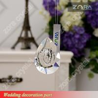 Machine cut crystal chandelier raindrop stand