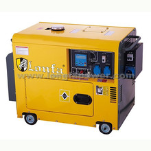 220volt Electric Start 6kw silent Diesel Generator with CE EPA