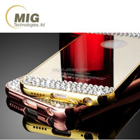 For iphone 6S case diamond Mirror AL metal For samsung S3 S4 S5 S6 For iphone 6S plus accessory