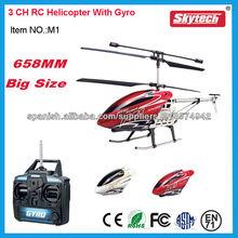 Helicóptero de control remoto de 3 canales