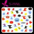 halloween coloridos diseños de uñas nail art etiqueta