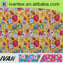 floral polyester fabric manufacture factory for fashion women dress