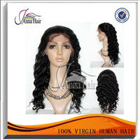 New sell brazilian hair deep wave virgin hair lace wig with paypal!