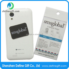 Custom Shape Design Phone Sticker Mobile Microfiber Screen Cleaner