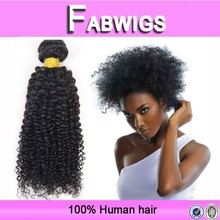 2015 alibaba 6A new products wholesale hot selling fast delivery natural color kinky curly brazilian human hair sew in weave