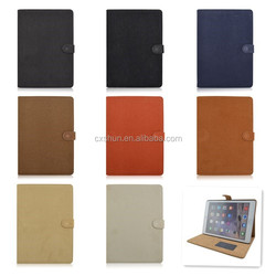 Squirrel Grain Flip Turn Stand PU Leather Tablet Case For iPad air 2, Covers For iPad 6 With Magnetic Snap