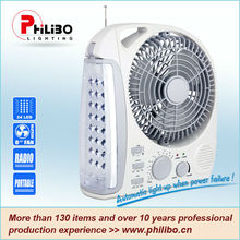 Ventilador recargable con luz LED
