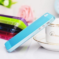 Cute fancy unique universal design transparent plastic case cover for Iphone 4 4S 5 5S smart cell phone