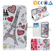 Love Girls Newest Magnetic Stand Wallet TPU+Leather Flip Case Cover For iPhone 6s plus With Card Slot