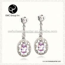 manufacture silver earrings zircon