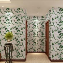 Removable 3d plant hotel wallpaper
