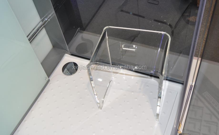 Acrilico trasparente sgabello bagno doccia in acrilico for Sgabello plexiglass doccia