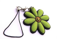 Flower with pvc pendant cell phone key chain