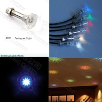 ZW-04 6pcs led fiber optical star ceiling starry sky seven star light for cinema bedroom