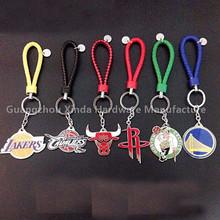 NBA basketball around fashion BV the braided rope basketball team logo key chain pendant