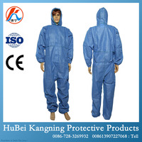 Zipper Front Customized Work Overalls Protective Clothing