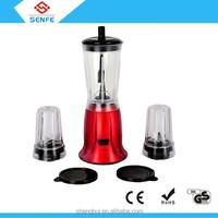 kitchen juicer blender electric mini food blender machine juicer blender with 0.4 0.25L plastic jar