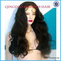 "1B Remy Indian Human Hair Thin Skin PU Lace Wig,26"" natural black body wave full lace human hair wigs prices in euros"