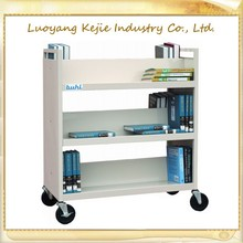 Metal Library Mobile Book Carrier, Metal Library Mobile Steel Library Book Ladder, School Furniture Book Carrier