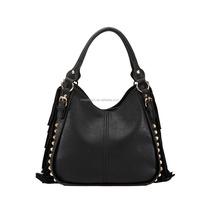 Wholesale 2015 Classic Black High Quality Genuine Leather Fringe Handbag wholesale trendy products