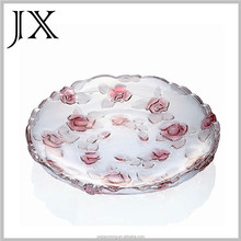 wholesale crystal high quality glass fruit plates fruit dish salad plate for home wedding decor