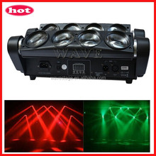 WLED 1-14 New 8 pcs 4 IN 1 RGBW (WHITE) 10W LED linear dmx 8 legs fantastic beam night club moving
