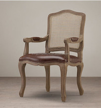 Classic louis chair with scalloped seat,louis wood chair with carved cabriole legs,soild wood chair /YJ-135