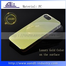 Fashion Gold Clear Slim Costom Plastic Phone Case For iPhone 6