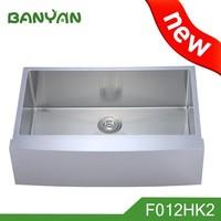 Single utility sound deadening pads press ss kitchen sink