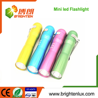 Logo Printed Promotional AA battery Operated Aluminum Small penlight led