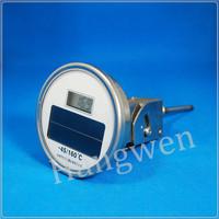 Solar adjustable digital thermometer