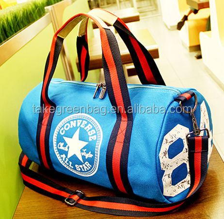 cute woman travel bag polyester sport bag