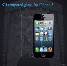 Newest anti -scratch anti -shock 0.26mm/0.33mm clear tempered glass screen protector for iphon5