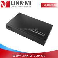 LM-SPH2-70 4Kx2K HDBaseT HDMI Splitter 1 In 2 Out, Extend HDMI and IR Up to 230ft/70m Over Single Cat5e/6 Cable