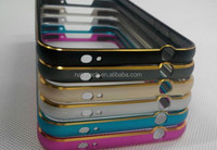 For Samsung S5 Metal Aluminium Alloy Bumper Case Frame Protector Cover with Button Double Color arc design High Quality