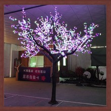 Best selling artificial Christmas colorful LED tree light artificial cherry tree