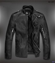 New Coming China Manufacture Men Clothing Fashion Garment Special Design Black Cheap Leather Jacket