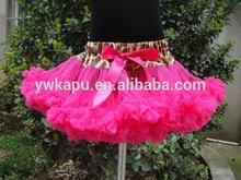 Venta al por mayor de moda falda de tul, puffy falda de tul, rosa bebé caliente pettisdkirt