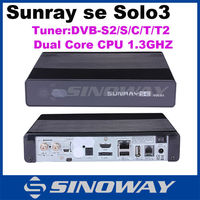 Newest Sunray se solo3 same function as solo se Enigma2 Linux decoder 1300 MHz DVB-C cable tuner sunray se solo 3