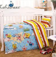 Kindergarten kids and baby 100% cotton quilt 3 pieces bedding sets