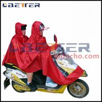 High quality polyester bicycle rain poncho